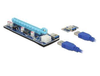 Delock Riser Card PCI Express x1 > x16 s 60 cm USB kabelem