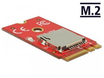 Delock Adaptér M.2 Key A+E > 1 x Micro SD slot pro karty