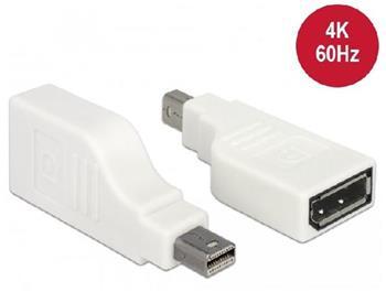 Delock Adaptér mini Displayport 1.2 samec > Displayport samice 4K 90° otočný bílá
