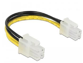Delock Napájecí kabel P4 samec > P4 samec 15 cm