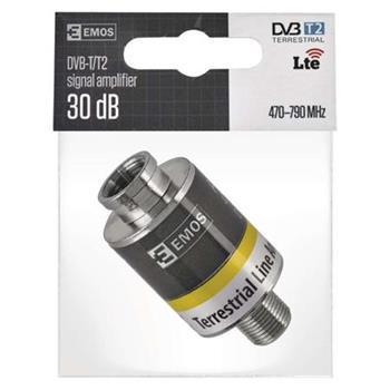 Emos AMP-30, zesilovač DVB-T2/T, 30 dB
