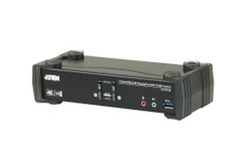 ATEN 2-Port USB3.0 4K DisplayPort KVMP Switch with Built-in MST Hub