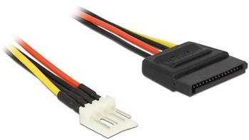 Delock Power Cable SATA 15 pin male > 4 pin floppy male 60 cm