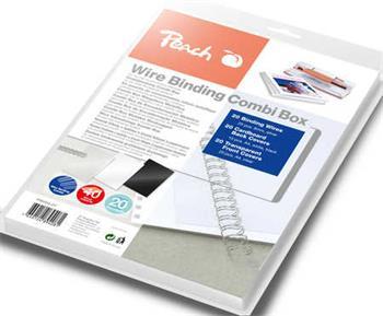 PEACH vazací drátěný Combi Box PW064-07, 20x 6mm drát, 20x přední obal, 10+10 obal