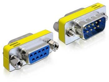 Delock Adaptér Seriový Sub-D 9 pin samec > Sub-D 9 pin samice – šetřič portu
