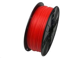 GEMBIRD Tisková struna (filament), PLA, 1,75mm, 1kg, fluorescentní, červená