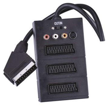 Emos AV kabel SCART - 3x SCART + 3x CINCH + SVHS, 0.5m