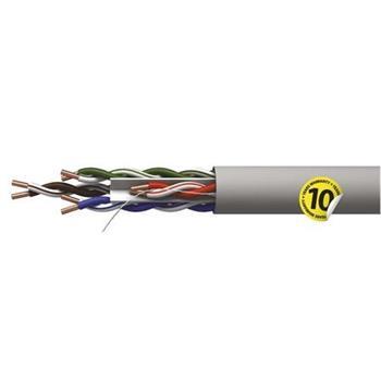 Emos UTP kabel CAT 6 PVC, měď (Cu), AWG23, šedý, 305m, box