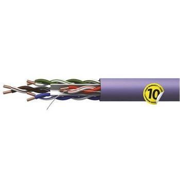 Emos UTP kabel CAT 6 LSZH, drát, měď (Cu), AWG23, šedý, 305m, box