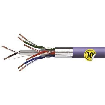 Emos FTP kabel CAT 6 LSZH, drát, měď (Cu), AWG23, fialový, 500m, cívka