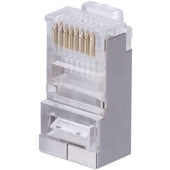 Emos RJ45 konektor FTP CAT 6, stíněný, drát, 20 ks