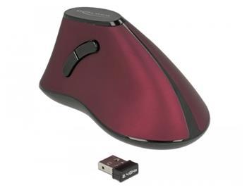 Delock Ergonomická vertikální optická 5-tlačítková myš 2.4 GHz bezdrátová