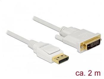 Delock Kabel Displayport 1.2 samec > DVI 24+1 samec pasivní 2 m bílý