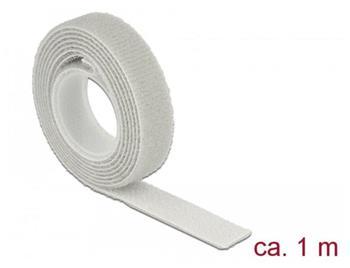 Delock Vázací pásky na suchý zip D 1 m x Š 13 mm oválné šedá