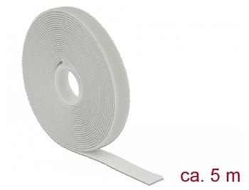 Delock Vázací pásky na suchý zip D 5 m x Š 13 mm oválné šedá