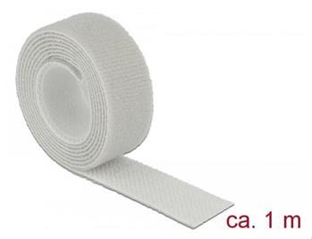 Delock Vázací pásky na suchý zip D 1 m x Š 20 mm oválné šedá