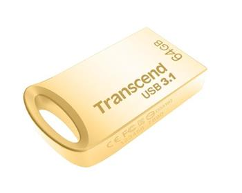 Transcend 64GB JetFlash 710G, USB 3.1 flash disk, malé rozměry, zlatý kov
