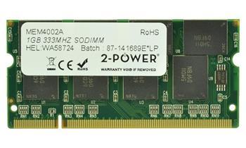 2-Power 1GB PC2700S 333MHz DDR CL2.5 SODIMM 2Rx8 (DOŽIVOTNÍ ZÁRUKA)
