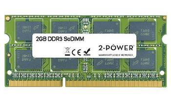 2-Power 2GB PC3-8500S 1066MHz DDR3 CL7 SoDIMM 2Rx8 (DOŽIVOTNÍ ZÁRUKA)