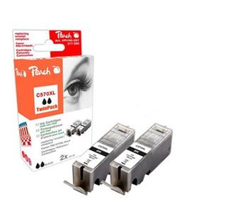 PEACH kompatibilní cartridge Canon PGI-570bk XL černá TwinPack, 2x23ml