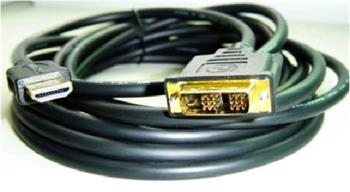 Kabel CABLEXPERT HDMI-DVI 0,5m, 1.3, M/M stíněný, zlacené kontakty