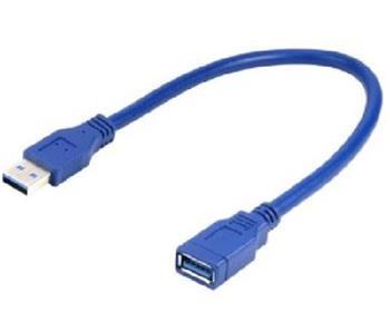 Kabel CABLEXPERT USB A-A 15cm 3.0 prodlužovací, modrý