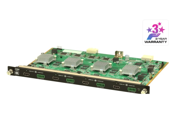 ATEN VM8814-AT 4-Port 4K HDMI Output Board with Scaler