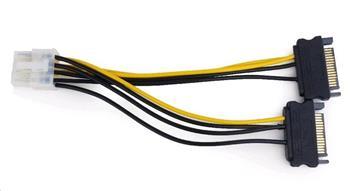 Kabel CABLEXPERT 2x SATA na PCI express 8 pin, 15cm