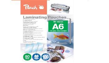 PEACH laminovací folie A6 (154x216mm), 80mic, 100ks