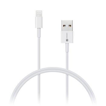 CONNECT IT Wirez Apple Lightning -> USB-A, bílý, 0,5 m