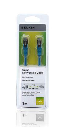 Belkin kabel CAT5e RJ45 datový černý,1m