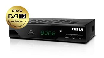 TESLA DVB-T2 FTA přijímač TE-310/ Full HD/ H.265/HEVC/ EPG/ USB/ HDMI/ LAN/ SCART/ černý