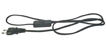Emos Flexo šňůra PVC 2x0.75mm, 3m, černá s vypínačem