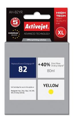ACJ Ink cartridge HP 4913 Yellow ref. no82 - 80 ml
