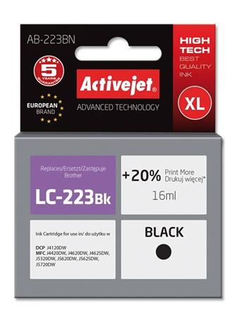 ActiveJet ink Brother LC223Bk new AB-223BN 16 ml