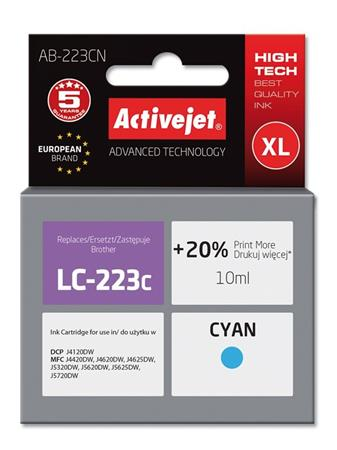 ActiveJet ink Brother LC223C new AB-223CN 10 ml