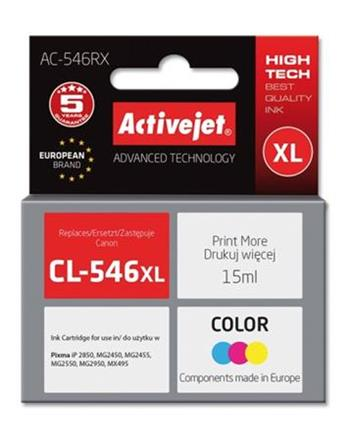 ActiveJet ink Canon CL-546XL remanufactured AC-546RX 15 m