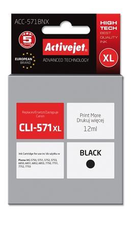 ActiveJet ink Canon CLI-571Bk XL new ACC-571BNX 12 ml