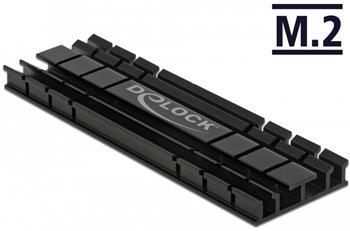 Delock Chladič plochý 70 mm pro modul M.2 černý