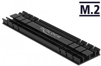 Delock Chladič plochý 100 mm pro modul M.2 černý