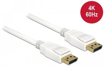 Delock Displayport 1.2 kabel samec > Displayport samec 4K 60 Hz 0,5 m