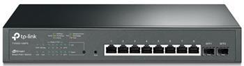 TP-Link T1500G-10MPS PoE switch, 8x GLAN + 2x SFP, 802.3af/at, 116W budget