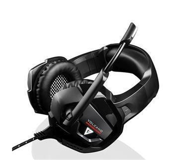 Modecom VOLCANO BOW headset, herní sluchátka s mikrofonem, 2,2m kabel, 3,5mm jack, USB napájení, černá, LED podsvícení