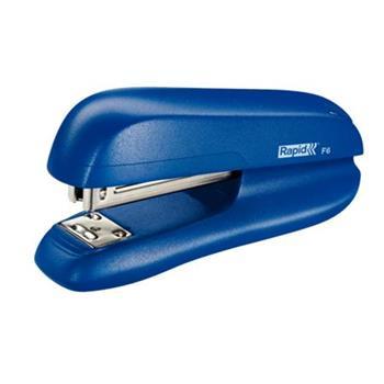 Malá sešívačka Rapid F6, 20 listů, modrá