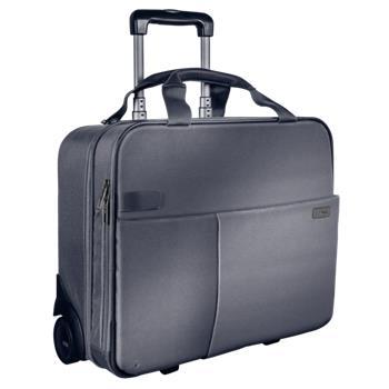 Kufr na kolečkách Leitz Complete, stříbrná