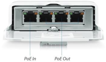 Ubiquiti N-SW, NanoSwitch, Outdoor 4-Port PoE Passthrough Switch