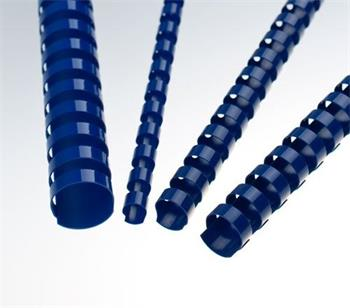 Plastové hřbety 12,5 modré, 100 ks balení
