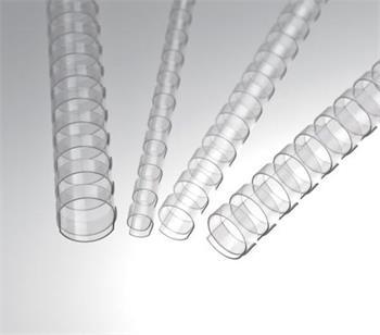 Plastové hřbety 12,5 čiré, 100 ks balení