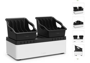 Belkin nabíjecí stanice pro 2 x 5 tabletů odmímatelná + 10port USB nabíječka
