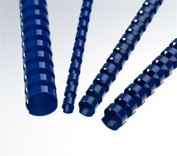 Plastové hřbety 8 modré, 100 ks balení